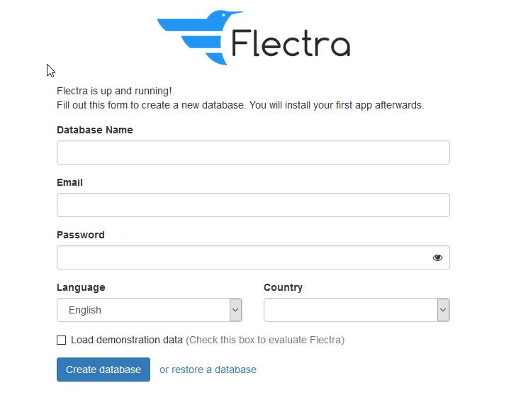Flectra Installation – Datenbank