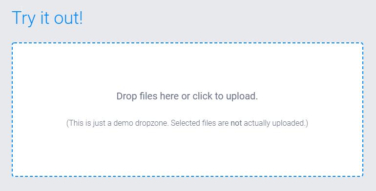 DropZoneJS – FileUpload via Drag n Drop